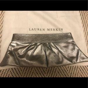 Lauren Merkin Silver Clutch NYOT